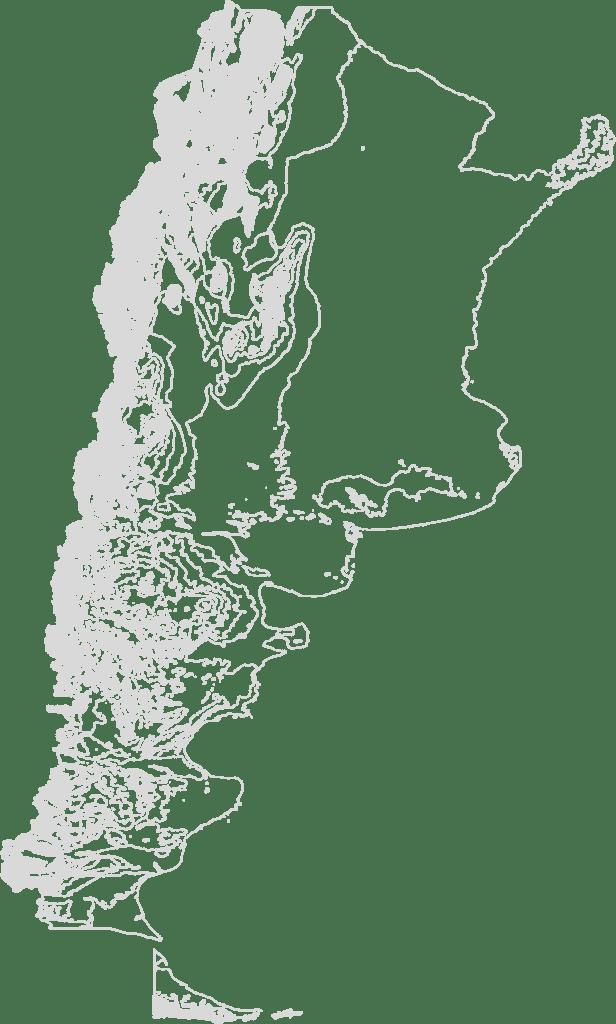 Argentina Contour Map