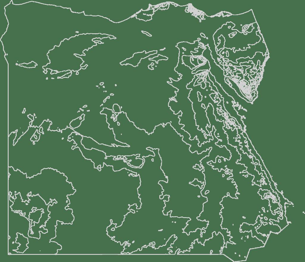 Egypt Contour Map