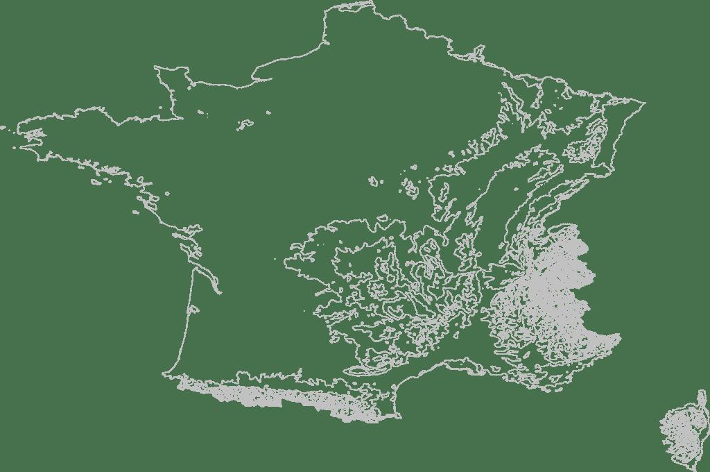 France Contour Map 3