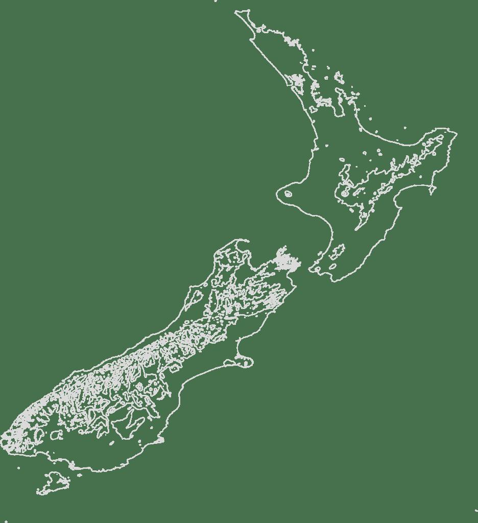 New Zealand contour map travelstore