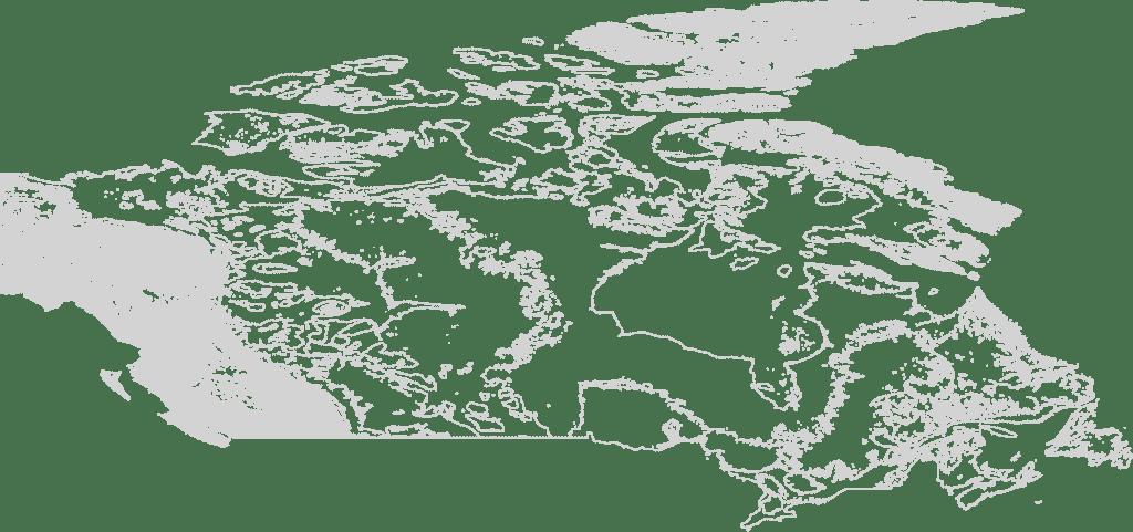 Canada contour map