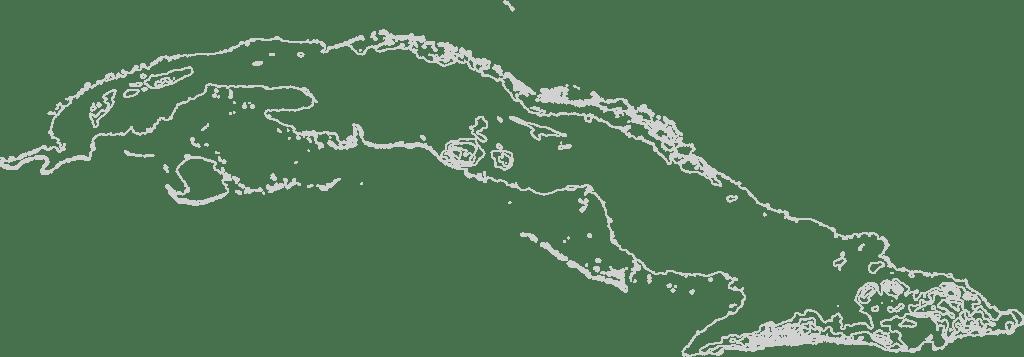 Cuba Contour Map