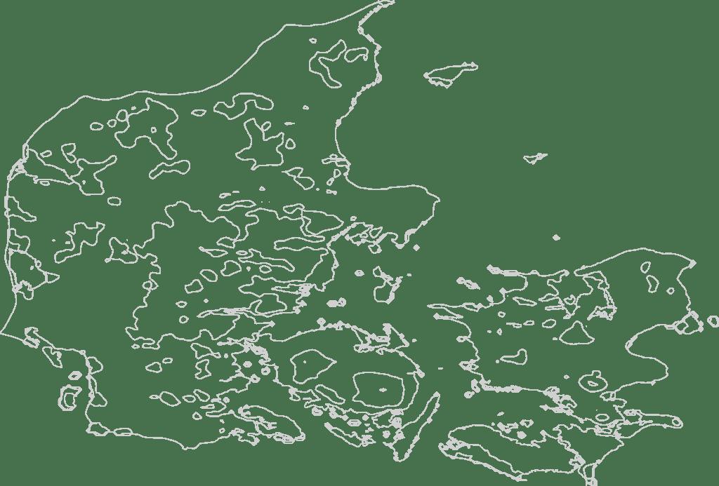 Denmark Contour Map