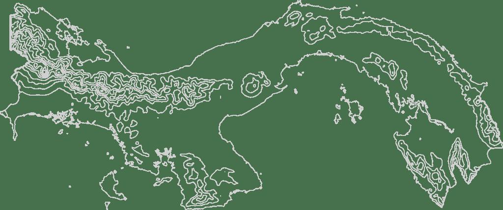 Panama contour map