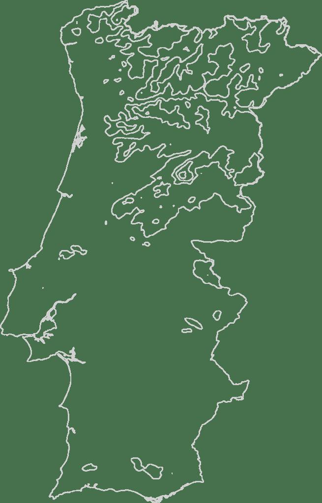Portugal contour map