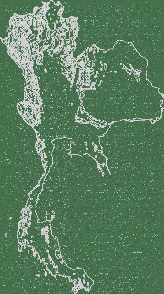 Thailand Contour Map