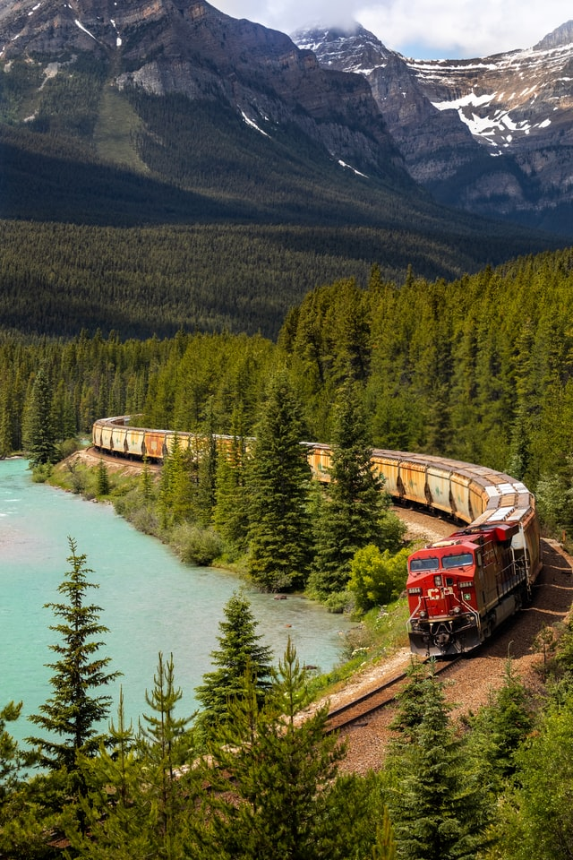 canada rocky mountains rail travel
