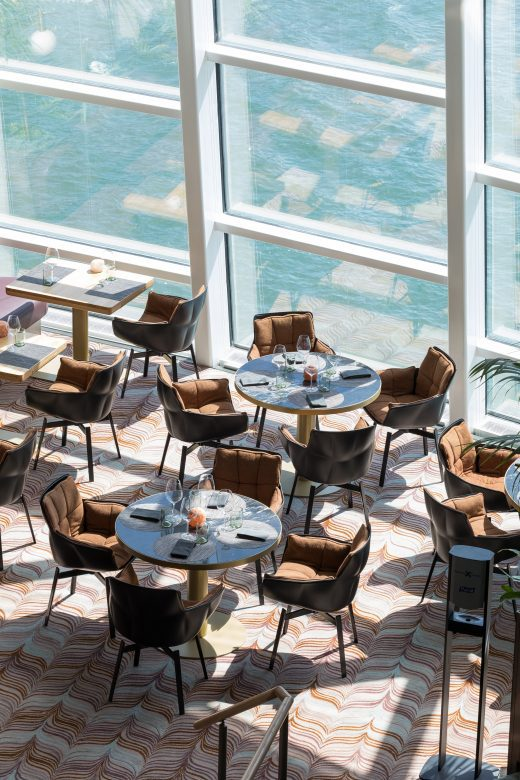 Dining view, Celebrity Cruises