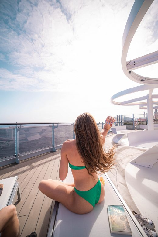 sun lounge and @ Virgin Voyages