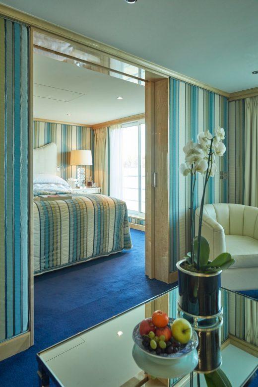 Suite on Uniworld cruise ship
