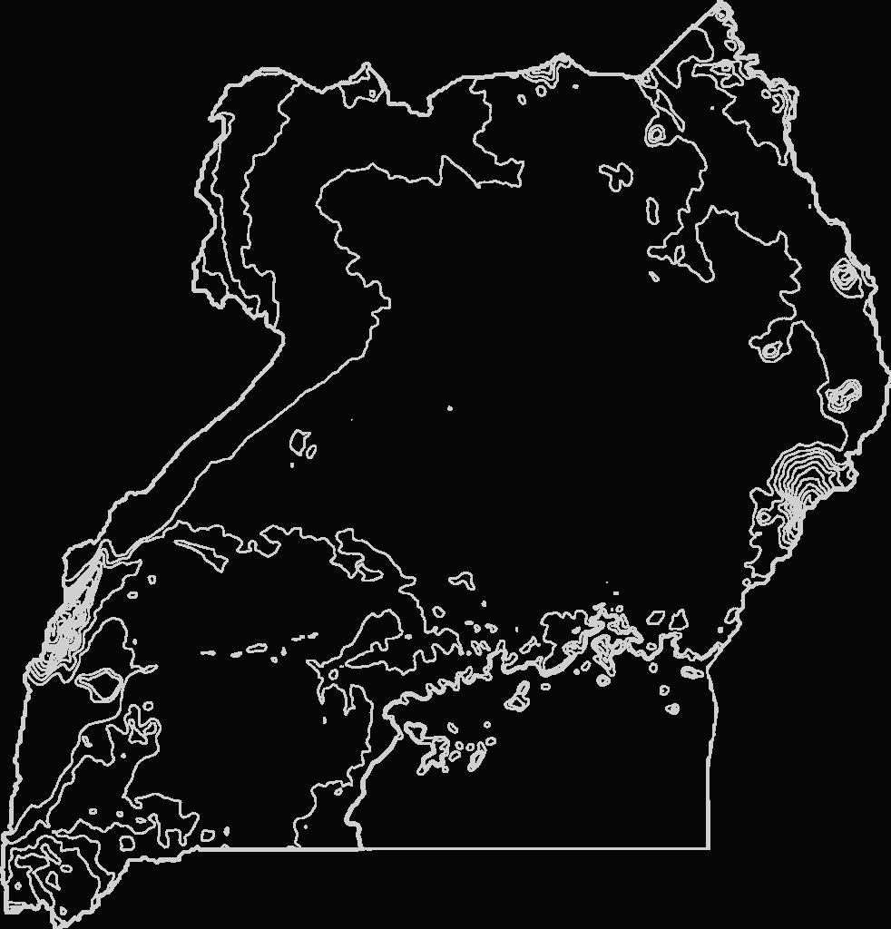 Uganda Contour Map