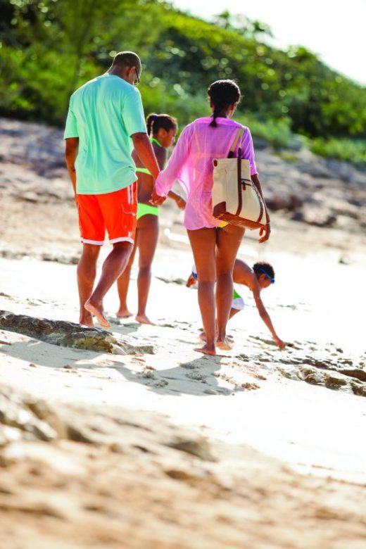 Family on the beach