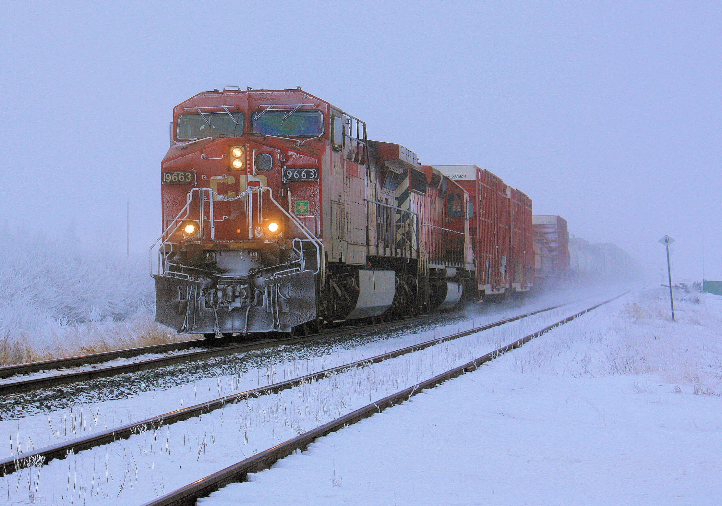 Canada train in winter, dan loran on unsplash