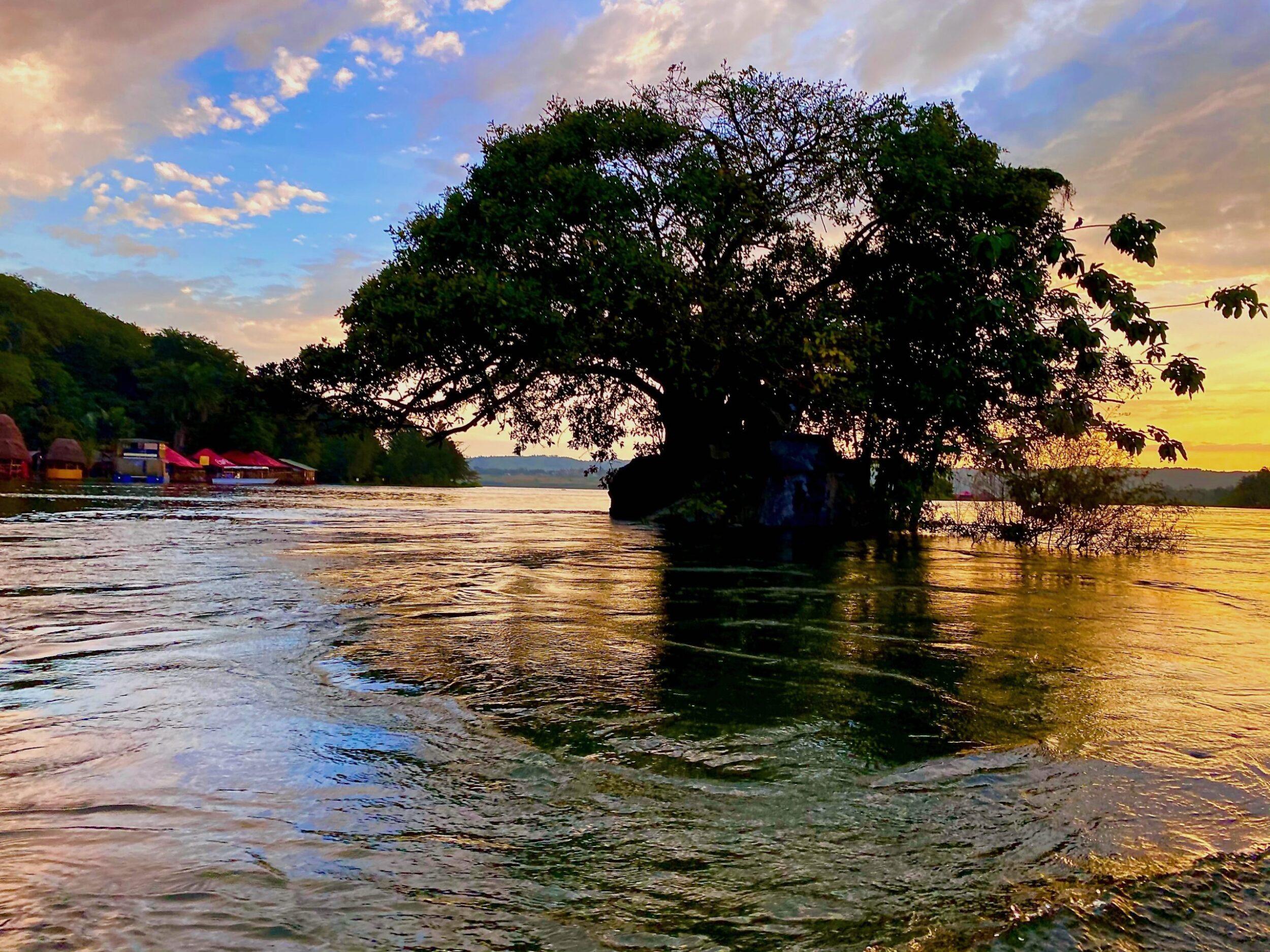 near the Nile's source in Uganda