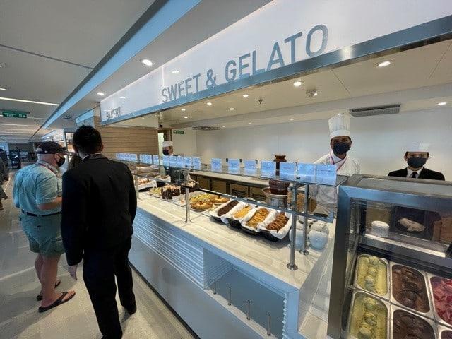 Gelato bar on Viking Cruises