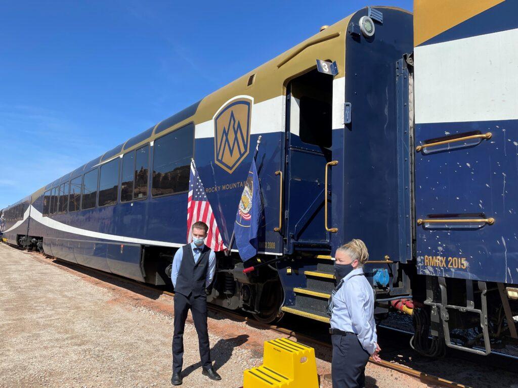 Boardin Rocky Mountaineer's USA train
